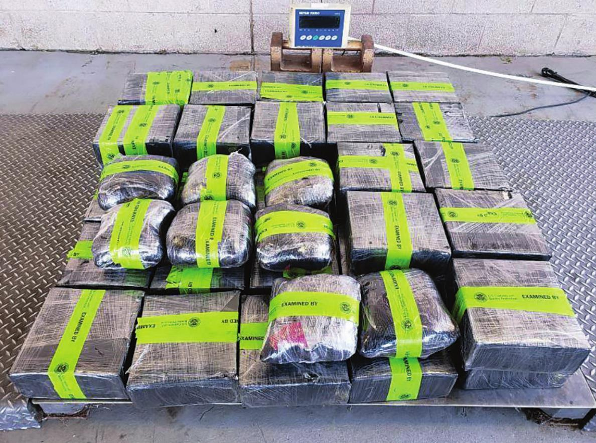 Packages containing 326 pounds of methamphetamine seized by CBP officers at Pharr-Reynosa International Bridge.