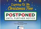 San Juan Lighting of the Tree Postponed